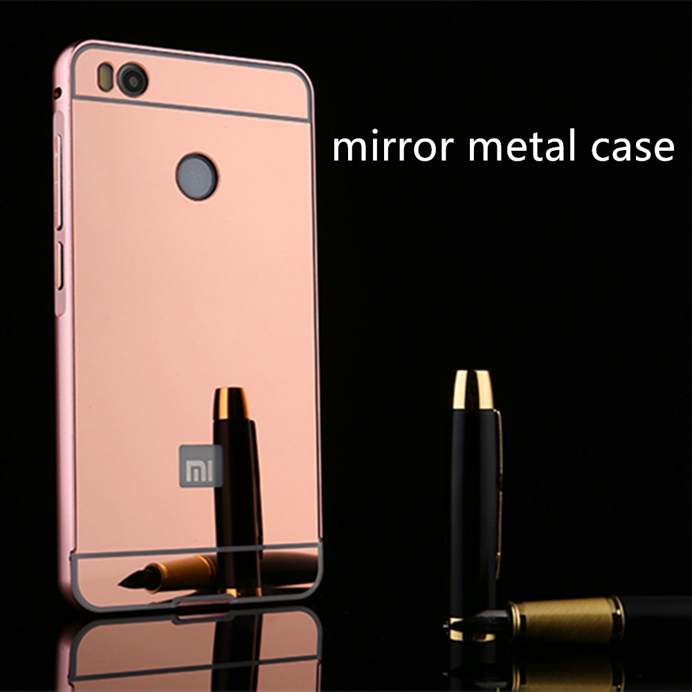 Bulk Buy From China Metal Alminum Bumper PC Mirror Back Cover For Xiaomi mi4s