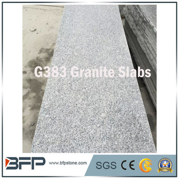 G383 Flower Pearl Standard Size Grey Granite Slab For Outdoor Flooring Paving