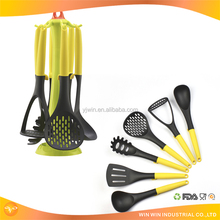 Eco-friendly easy clean heat resistant 6 piece kitchen utensil sets appliances kitchen