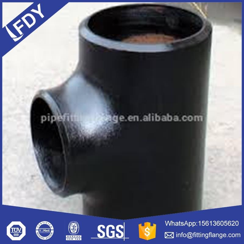 Butt welded BW equal tee carbon steel pipe fitting ASTM A234 WPB