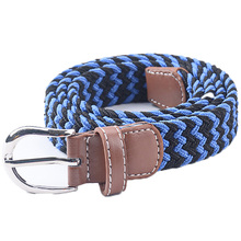 Free Shipping 2015 New Hot Sale Wave Striped Adjustable Kids Elastic Waist Belts For Boys Girls