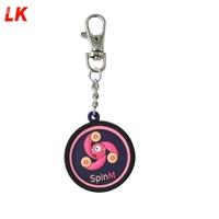 2019 new design custom pvc rubber soft light keychain