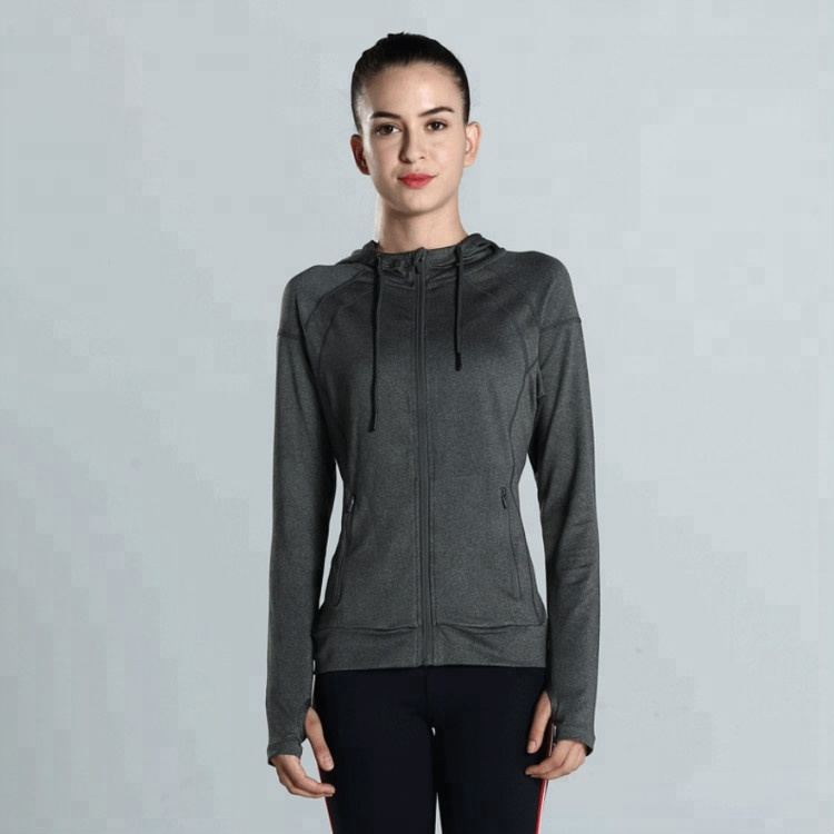 Custom lady sports zipper bomber jacket women yoga top jacket for sport running gym yoga