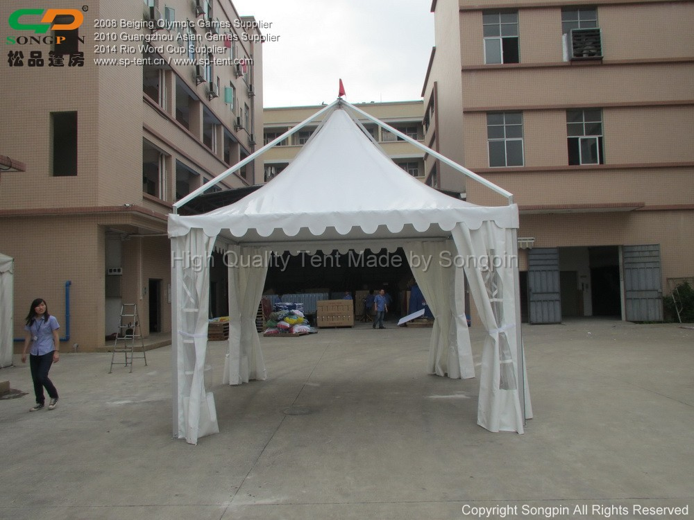 Aluminum Gazebo 5x5m In White Pvc Fabric And Aluminum Frame - Buy Aluminum Gazebo,White Gazebo ...