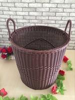 Demi 067 wholesale home big wicker basket craft lundry Natural Materials Hand Woven Storage Basket Storage basket