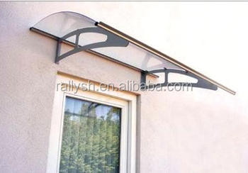 Plastic Building Material Or Glass Canopy Awning Designs