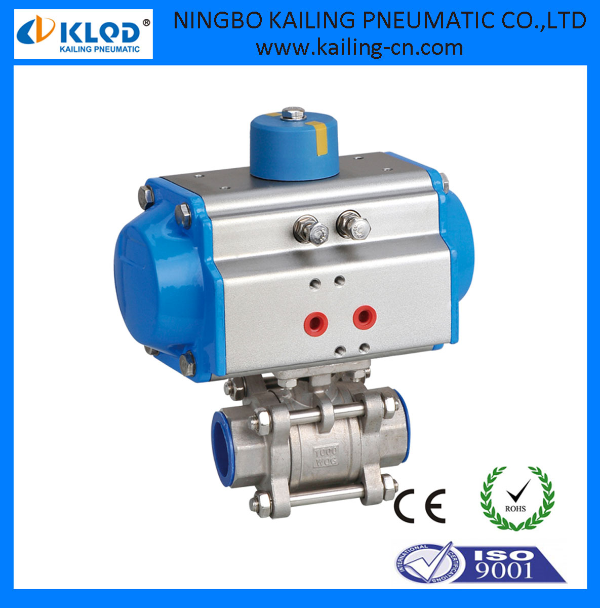 Pneumatic Air Actuated High Pressure Ball Valve Actuator Dn125 ...
