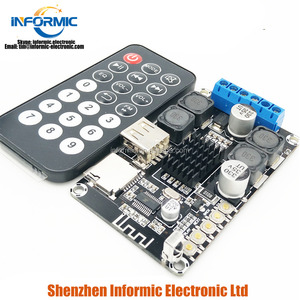 Bluetooth audio digital amplifier board module 2X50W stereo amplifier with remote control