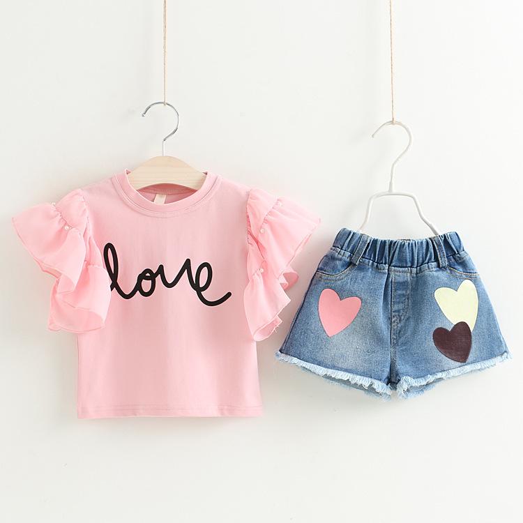 China Wholesale Market Korean Kids Wear Summer Teen Girl Clothing Set