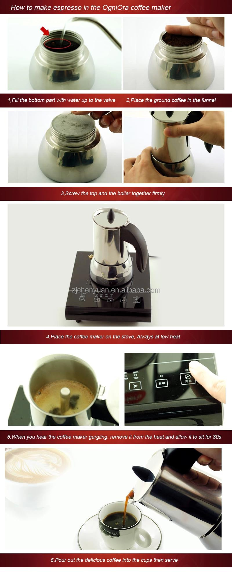 Stainless steel stovetop espresso maker 10 cup - Ogniora Stainless Steel 304 Stove Top 10 Cup Coffee Espresso Maker Coffee Pot