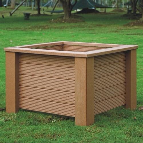 Composite Pvc Planter Boxes For Decks And Patios: 610*610*407mm Eco-friendly Wpc Outdoor Flower Pot,Wpc