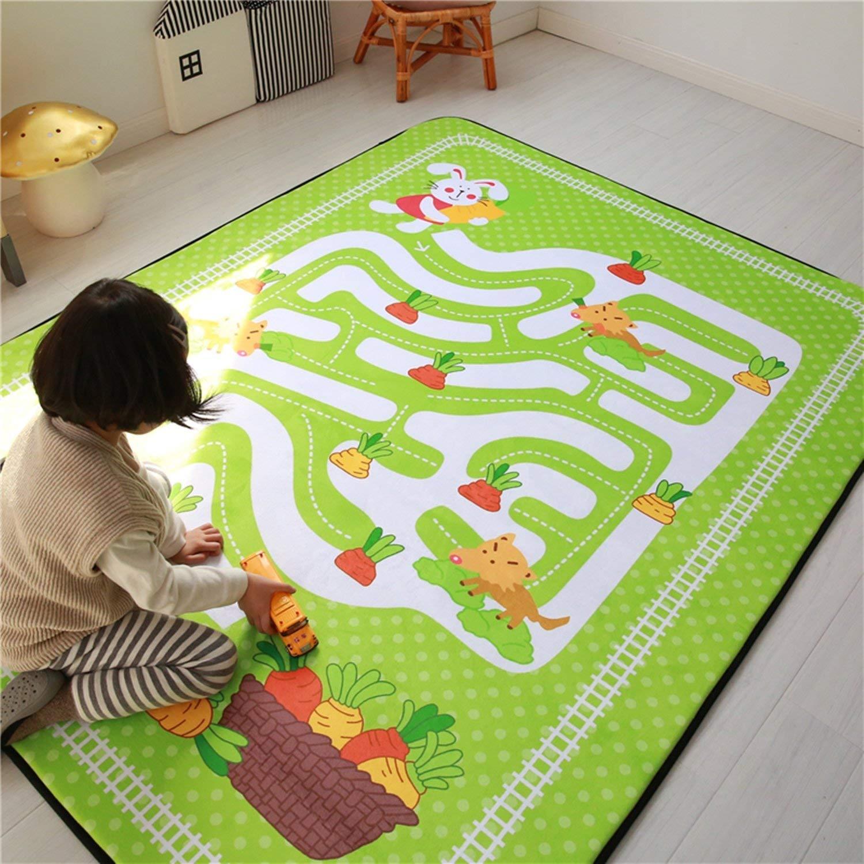 Higogogo Play Rug For Kids Baby Crawling Mat Nursery With Non Slip Backing Memory Foam Room Living Playroom