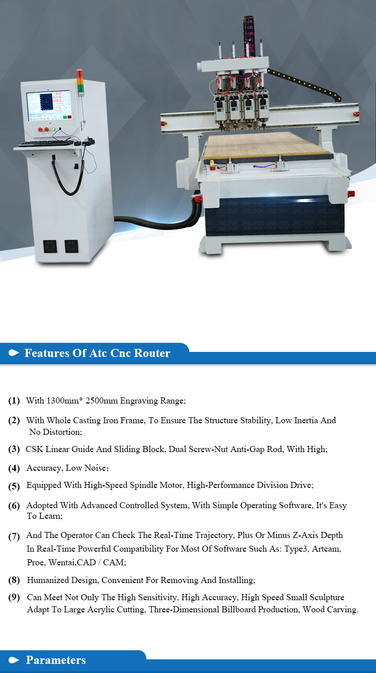 4 head gear wood cnc router machine prices