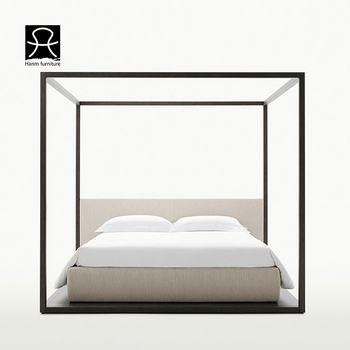 Wooden Bedroom Furniture Black Ash Solid Wood King Queen Size Canopy 4  Poster Bed - Buy Canopy Bed,Poster Bed,King Size Bed Product on Alibaba.com