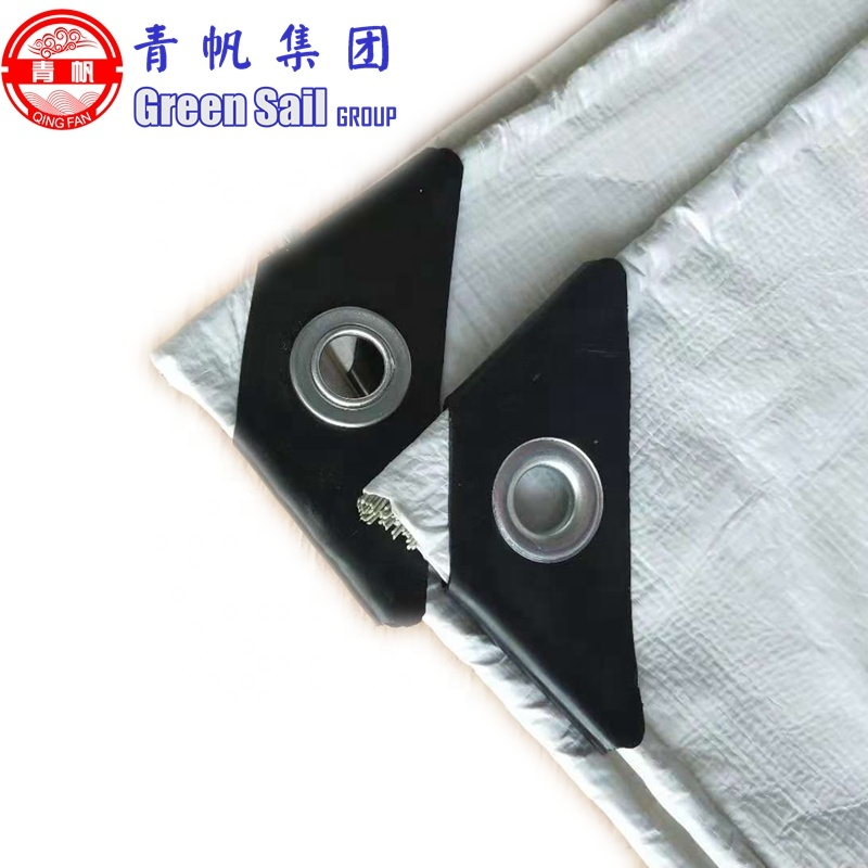 180gsm Black triangle force PE Material Fabric for Grain Tarp Cover
