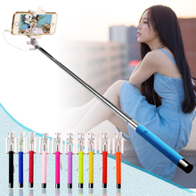 Mini Wired Selfie Unreal Selfie Stick Tripod Cable Extendable Monopod Selfie Stick For iPhone Samsung Smartphone