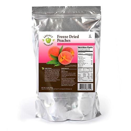 Legacy Essentials Freeze Dried Peaches - 15 Year Shelf Life for Emergency Prepper Food Storage Supply - Bulk Ingredients (Quantity 1)