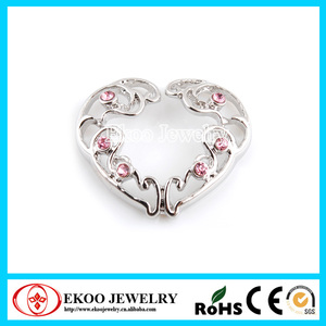 Clip On Heart Nipple Ring with Gems Nipple Jewelry Non Piercing
