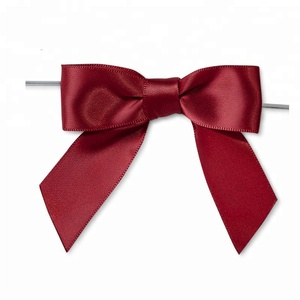 Free Samples Satin and Grosgrain Ribbon pre tied gift ribbon with Twist Tie
