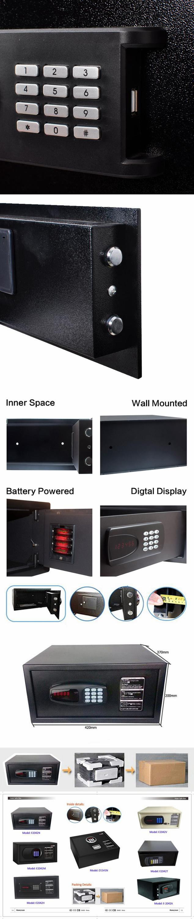 Hotel 2018 New Style Digital Intelligent Electronic Plastic Toy Gun Safe