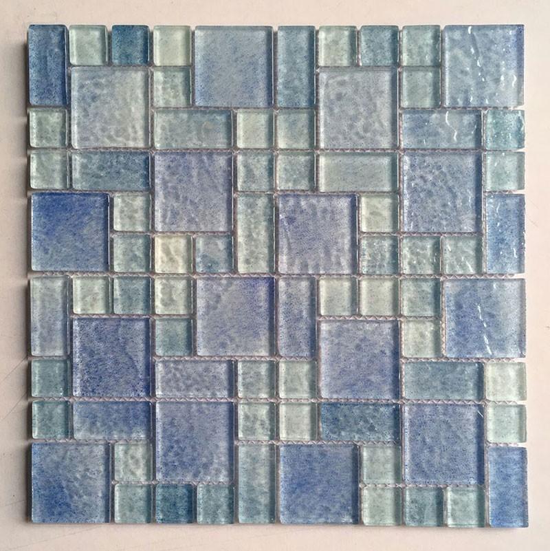 Mm Épaisseur Bleu Couleur Gradient Mosaïque De Verrebrouillard - Carrelage épaisseur 6 mm