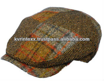 patchwork fabric caps for women