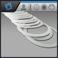 customized white PTFE washer teflon ptfe flat gasket shim