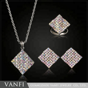 american fashion luxury artificial diamond special design jewellery set