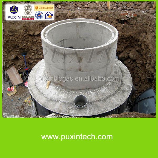 PUXIN 10m3 small anaerobic digester human waste and animal waste treatment