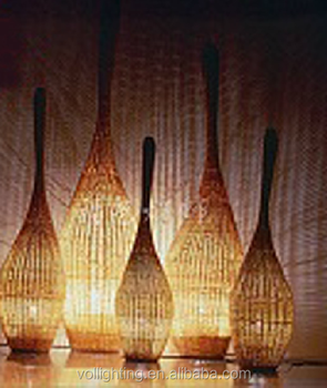 Rattan Lamp Floor Lamp Sitting Room Bedroom Restaurant Bowling Rattan/led  Chandelier Floor Lamp