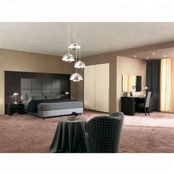 Black Oak Veneer Type Hpl Hotel Bedroom Furniture With Full Panel Headboard  - Buy Modern Hotel Bedroom Furniture,Laminate Bedroom Furniture,Headboard  ...