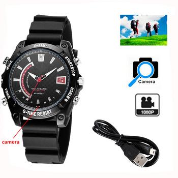 HD 1080 P полный ночного видения видео Смотреть Шпионские камеры 8 ГБ  встроенный наручные часы скрытая aaab0879db9