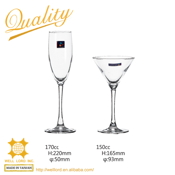 Magnificient champagne coupe or flute glass