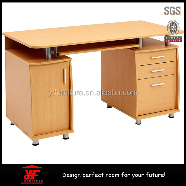 Home Office Beach Wooden Computer Desk With Filing Drawer Desks Locking Drawers Product On