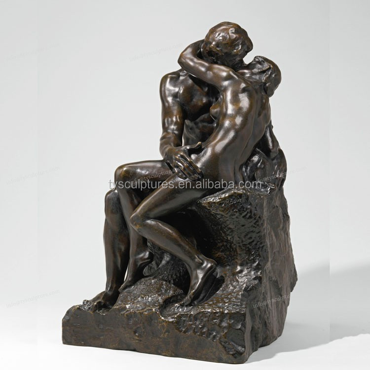 Exhibition Hall Decor Human Body Art Sculpture Of Naked Female And Male In Erotic -4764