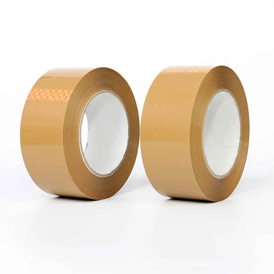 Custom bopp brown packing raw material adhesive circle duct tape