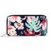 China Yiwu wholesale fabric with big flower zip puller 100% nylon coin and card purse