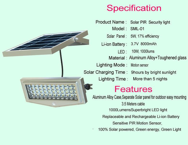 Dc 12 Volt Motion Sensor Security Solar Led Flood Light