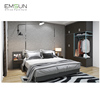 Newly design fancy luxury european style bedroom bed set engineering furniture