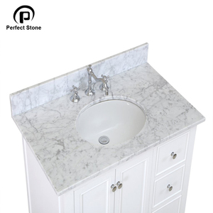 Carrara white marble vanity top for bathroom vanity tops