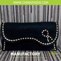 2017 fashion dark women hand bag with jewelry manufactured in China