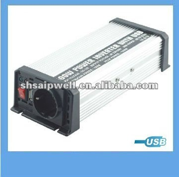 500W European Style Car Charge Inverter With USB