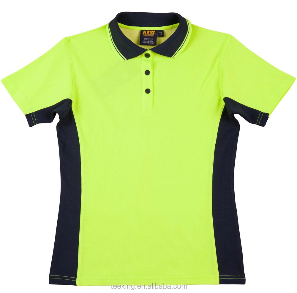 Custom goedkope sneldrogend polyester hi vis veiligheid for Custom polyester polo shirts