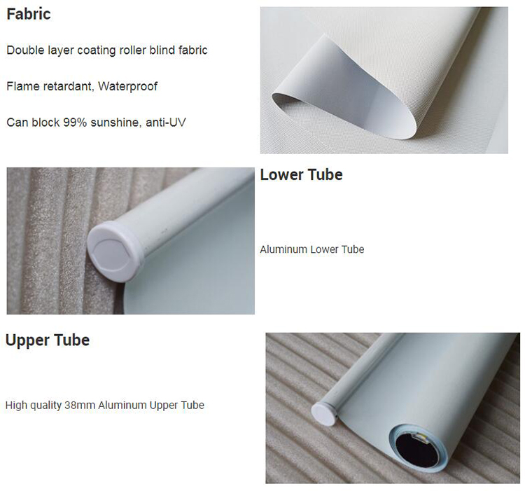 Flame retardant coating fabric roller blinds anti UV window shade roller blind