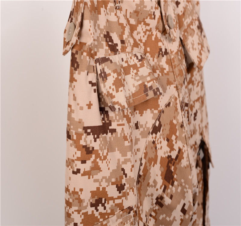 Immediate Delivery Stock Fast Wholesale Army Cloth Desert camouflage military uniform Military tactical bdu uniform army uniform