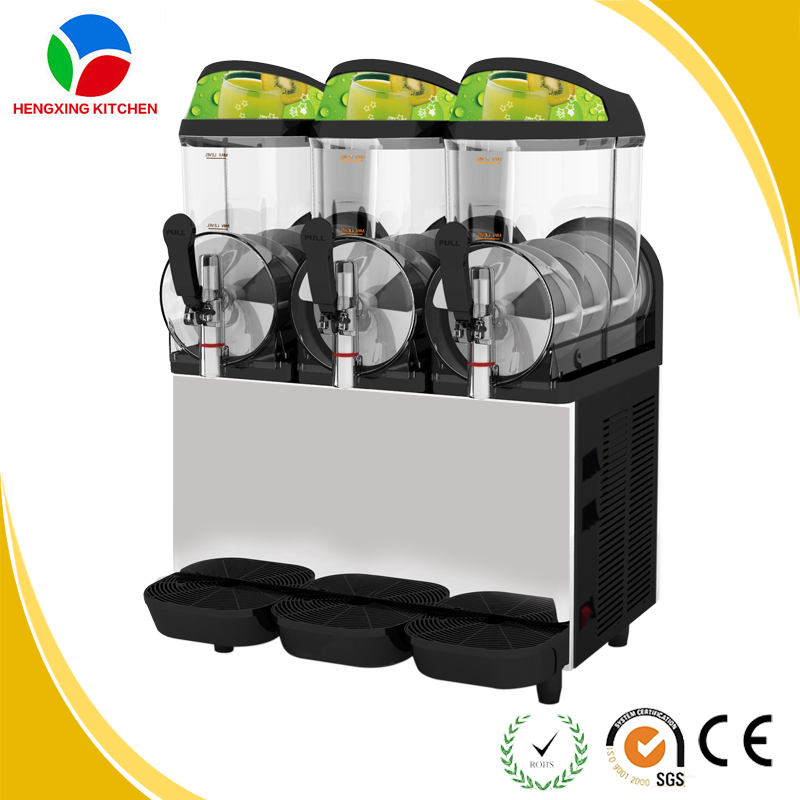 Three Tank Commercial Penguin Slush Machine For Sale