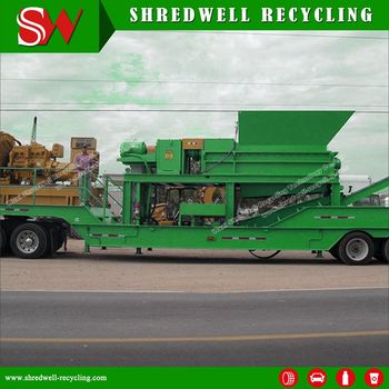 Best Price PTS-1800 Portable Tire Shredder for Sale with around 20 Tons Per  Hour Capacity, View portable tire shredder, SHREDWELL Product Details from
