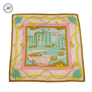 9090 multi color bursa 100% twill silk scarf for men turkey