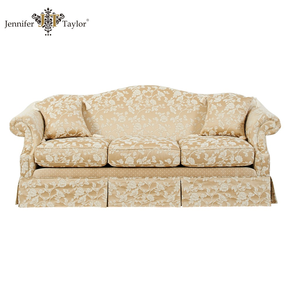 Home Furniture Japan Hot Selling Factory Direct Sell One Piece Moq Floral Fabric Upholstery Sofa