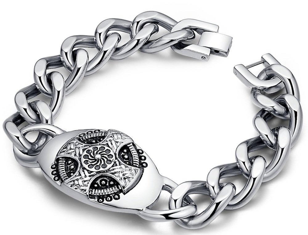 New Arrival Hot Sale Fashion Chic Gothic & All-Purpose Style Celtic Cross Bracelets Made By Stainless Steel With Length 8.75inch